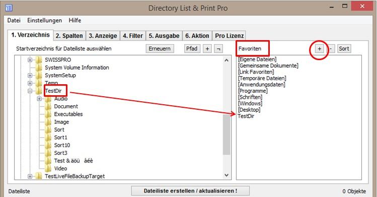 Dateilisten und Verzeichnisinhalte auflisten